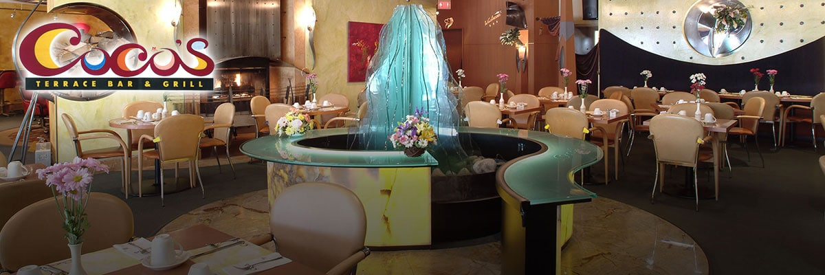 table seatings inside Cocos Restaurant