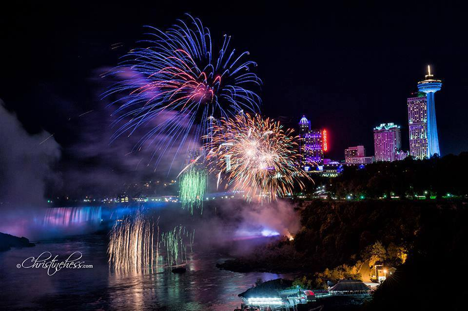 Attend The Niagara Falls Fireworks Holiday Inn By The Falls
