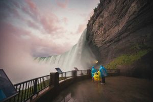 Which is Taller the Horseshoe Falls in Niagara Falls or the Rogers Centre?
